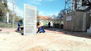 The artwork depicting the preamble of the Constitution of South Africa is erected at Stellenbosch University. Picture: Supplied