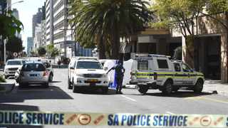The body of Anele Tembe was found on the corners of Loop and Bloem streets in the Cape Town CBD on Sunday morning. Picture: Phando Jikelo/African News Agency (ANA)