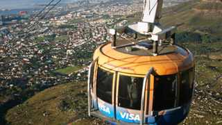 The cable car that operates in Cape Town. Picture: Candice Chaplin