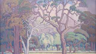 The cover lot of Strauss & Co's winter Live Virtual auction, due to be held over three days from 26 to 28 July, is a monumental bushveld scene by JH Pierneef. Painted in 1953, Bosveld (estimate R9 – 12 million)