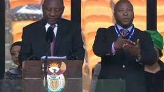 The deaf community is angry over the sign language interpreter used at the Nelson Mandela memorial.
