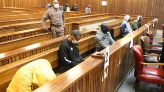 The five men accused of the murder of Dumisani Masilela were back in the Gauteng High Court, Pretoria for sentencing proceedings. Picture: Jacques Naude/African News Agency (ANA)