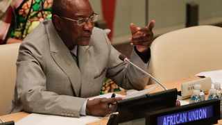 """The head of AU, Alpha Conde, said that the crisis in Zimbabwe """"seems like a coup"""" and called on the military to halt their actions immediately. Picture: AP Photo/Julie Jacobson"""