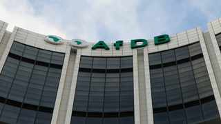 The headquarters of the African Development Bank (AfDB) are pictured in Abidjan. File photo.