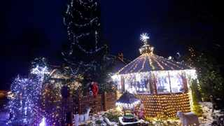 The home of Vaclav Trunec decorated with 27km of Christmas lighting in the village of Chotovice in Czech Republic. Picture: David W Cerny/Reuters