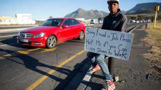 The increase in the number of unemployed people in the country to an all-time high of 34.4%. EPA/NIC BOTHMA