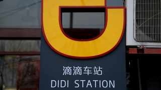The logo of Didi Chuxing is seen at a Didi station in Beijing. File picture: Reuters