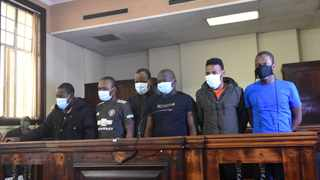 The men accused of killing Gauteng health official Babita Deokaran outside her Winchester Hills home made a brief appearance in court at the Johannesburg Magistrate's Court. Picture: Itumeleng English/African News Agency (ANA)