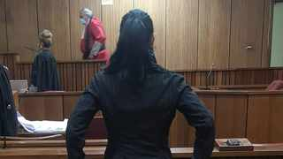 The mother of Baby T, who was allegedly abused, in the Gauteng High Court, Pretoria. Picture: Zelda Venter