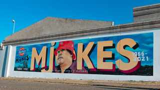 The mural in Meadowlands is in partnership with South African artist Rasik Green (Mister Ekse) Picture: Supplied