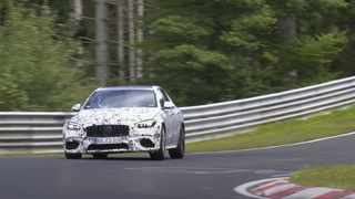 The new Mercedes-AMG C63 will have four-cylinder power. Picture: CarSpyMedia via YouTube.