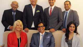 The new team announced by executive chairman, Dr Iqbal Surve, seated in the centre, to take the company forward are from top left Aziz Hartley, Yunus Kemp, Adrian Ephraim, and Gasant Abarder. Front- Adriana Senekal and Saajida Francis. Picture: Tracey Adams