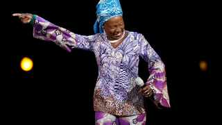 """The new version sung by Beninese artist Angelique Kidjo includes lyrics such as, """"We need to keep our hands clean so 'no-Pata Pata'... Don't touch your face, keep distance please and 'no-Pata Pata'"""". Picture: Mario Anzuoni/Reuters"""