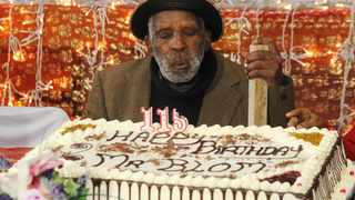 The oldest man in Cape Town and possibly the world, Fredie Blom turned 115 on 08 May. Picture: Tracey Adams/African News Agency(ANA)