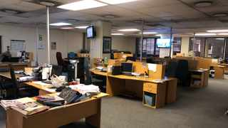 The open-plan Pretoria News newsroom stands empty during lockdown, as editorial staff moved out to work remotely. As levels of the lockdown ease, experts are saying desks will have to be separated and other changes made to ensure physical distancing of staff and other new health and safety protocols are met.