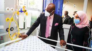 The opening of the AngloGold Ashanti Hospital in the West Rand by Premier David Makhura. Picture: Supplied