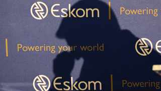 The shadow of new Chief Executive of state-owned power utility Eskom Andre de Ruyter is seen as he speaks at a media briefing in Johannesburg. Picture: ANA