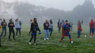 """The teachers did an entire dance sequence to the song """"Superman"""" by Jay Superhero, complete with face masks, hand sanitizer and pompoms. Picture: Table View Primary School/Facebook"""