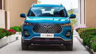 The upcoming Chery bakkie could be based around one of the current Tiggo-badged SUVs, like the Tiggo 7 shown here.