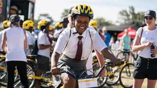 These were the first to be distributed of 400 bicycles that have been funded in total by Qhubeka's Absa Cape Epic teams (350 bicycles) and event headline sponsor Absa (50 bicycles). Photo: Facebook / Anthony Churchyard