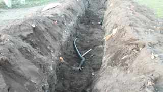 Thieves have dug trenches in Facreton to get to cables running underground. Picture: Supplied