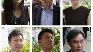 This combination photo shows City Harvest Church's members arriving at the State Courts in Singapore. File picture: Edgar Su/Reuters