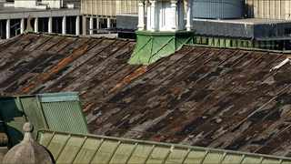 This image shows the extent of the theft from the roof of the Pietermaritzburg City Hall which was stripped by a copper thief. Picture courtesy of Burkhard Scholsser.