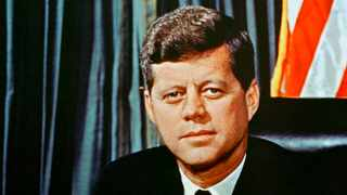 This is a 1963 portrait of U.S President John F. Kennedy. (AP Photo/ File)