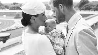 This is an official christening photo released by the Duke and Duchess of Sussex on Saturday. Picture: Chris Allerton/©SussexRoyal via AP