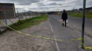 This is the scene where advocate Vukile Gontsana was murdered on Saturday afternoon in Kleinvlei. Picture: Supplied
