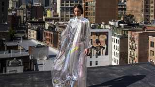 This translucent computer-generated dress, called Iridescence, from 'digital couture' house The Fabricant, sold at auction for over R154 000. Picture: The Fabricant.