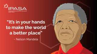 This year, as IPASA joins the rest of the world in celebrating Mandela Day and by giving back, contributing to our communities and making a difference in our own spheres of influence.