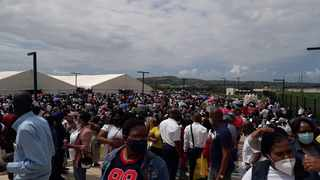 Thousands of people showed up at Dr Pixley Ka-Isaka Seme Memorial Hospital in KwaMashu. Picture: Supplied