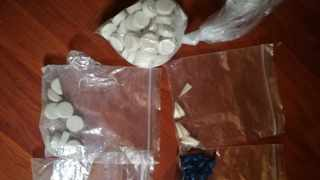 Three parcels of dagga, 344 mandrax tablets, three bags of tik and six SIM cards were among the items found. File picture: SAPS