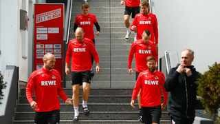 Three people at Cologne - later revealed to be two players and a physiotherapist - went into quarantine after testing positive for Covid-19 on Friday. Picture: Reuters