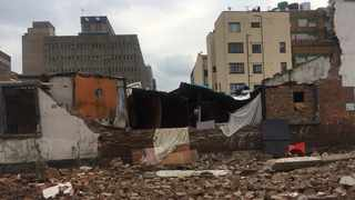Three young children aged three, five, and 10 were killed in Doornfontein, downtown Joburg, after a wall in an abandoned warehouse building in which they were living collapsed Picture: Robert Mulaudzi/Joburg EMS