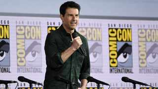 """Tom Cruise presents a clip from """"Top Gun: Maverick"""" on day one of Comic-Con International on Thursday, July 18, 2019, in San Diego. Picture: AP"""