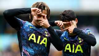 Tottenham Hotspur's Dele Alli celebrates with Son Heung-min after scoring their only goal in their Premier League game against Wolverhampton Wanderers on Sunday. Photo: Hannah Mckay/Reuters