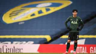 Tottenham Hotspur's Son Heung-min looks dejected after their defeat against Leeds United in the Premier League. Picture: Oli Scarff/Reuters