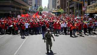 Trade union federation Cosatu is taking to the streets today to protest against retrenchments. File Photo: IOL