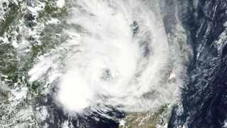 Tropical storm Eloise over the Mozambique channel on Friday morning.