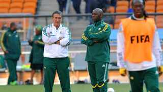 Twelve years after their maiden global showpiece event, South Africa, again, ditched local coaches, going for Carlos Alberto Parreira (left) who won the World Cup with his native Brazil in 1994, Copa América in 2004 and Confederations Cup in 2005. Photo: Allan Lipp/Backpagepix