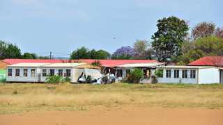 Two mobile classrooms caught fire at MJ Mgidi Secondary School in Soshanguve. Picture: Oupa Mokoena/African News Agency (ANA)
