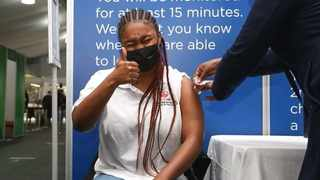UCT Student representative council member Retshedisitswe Molefe at the vaccination site. Picture: Supplied