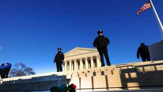 US Supreme Court Police Officers protect the the court's main entrance. File picture: AFP/ Tim Sloan