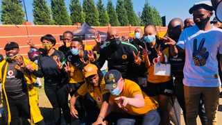 Unhappy Kaizer Chiefs supporters have demanded that the club follow in the footsteps of Mamelodi Sundowns and Bloemfontien Celtic and establish a women's football team. Photo: Mihlali Baleka/IOL Sport