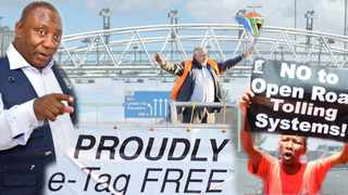 Unions say President Cyril Ramaphosa's administration has failed to provide a solution for the e-toll debacle. Montage: Karen Sandison