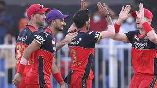 Virat Kohli's Royal Challengers Bangalore beat Punjab Kings by six runs to book their spot in the Indian Premier League playoffs. Photo: @RCBTweets/Twitter