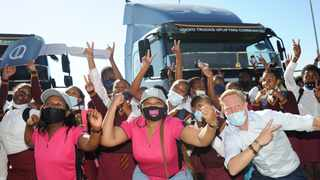 Volvo SA has donated two Volvo trucks to NPO SOS to assist them in doing their work. Picture: Henk Kruger/African News Agency (ANA)