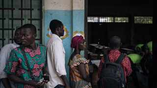 Voters queue to vote in Bangui, Central African Republic during the country's presidential and legislative elections. File picture: Alexis Huguet/AFP
